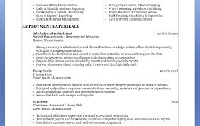 resume intriguing resume for junior administrative assistant
