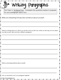 Paragraph Writing Worksheets 12 Best Writing Images On Paragraph Writing Writing