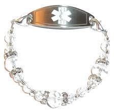 medical id bracelets for women amazon com crystal women u0027s medical alert id interchangeable