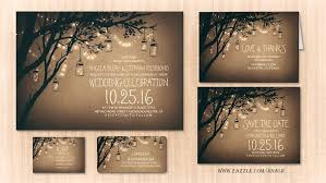 read more twinkle lights jars rustic wedding invitation