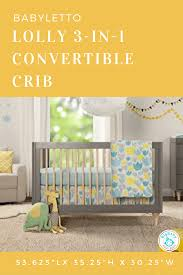 Hudson 3 In 1 Convertible Crib With Toddler Rail by Babyletto Crib Lolly View Larger Stylish Bump On Instagram