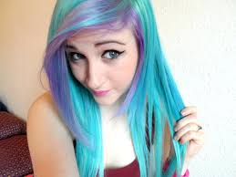 pictures of people who colored their hair with loreal feria b16 dying my hair blue purple youtube