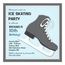 cool dudes ice skating birthday party invitation zazzle com