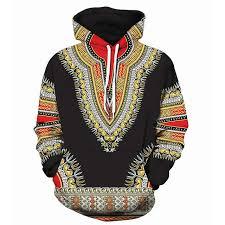 dashiki sweater 2018 large size 3d hoodie dashiki cotton