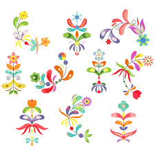 pattern clip art images flower patterns arts set semi exclusive clip art set for digitizing