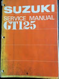 genuine suzuki gt125 1975 workshop service manual handbook sr3620