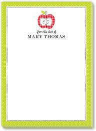 From The Desk Of Notepads Apple A Day Border 5x7 Notepad By Stacy Claire Boyd Shutterfly