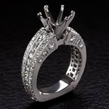 8mm diamond 2 carat g h vs diamond engagement ring setting cushion oval