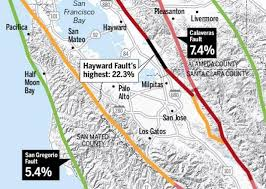 san francisco fault map graphic california near certain to get big earthquake in future