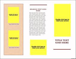 brochure templates free download for word one page template a
