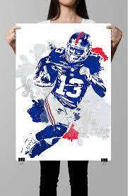 fan art poster odell beckham jr new york giants poster wall