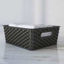 Storage Bookshelves With Baskets by Storage Boxes Storage Bins U0026 Storage Baskets You U0027ll Love