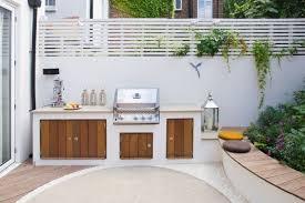 cuisine d ete barbecue barbecue fixe et aménagement d un coin repas terasa