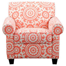 Coral Ottoman Wendy Chair Ottoman Coral Pink Medallion Handy Living