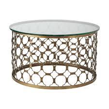 coffee table naomi 30inch round coffee table elegant gold metal