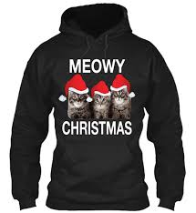 meowy christmas sweater christmas cat sweater meowy christmas products from cat