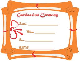 graduation ceremony invitation free printable graduation ceremony invitation template