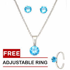 turquoise birthstone silverworks december birthstone sets with free adjustable ring