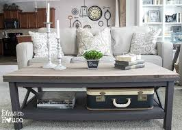 Grey Wood Coffee Table Barn Wood Top Coffee Table