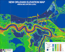 Zip Code Map New Orleans by Living On Earth August 28 2015