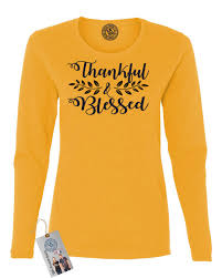 thanksgiving tshirt thankful blessed thanksgiving shirt womens sleeve t shirt