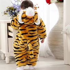 Baby Tiger Costumes Halloween Tiger Climbing Clothes Romper N6264