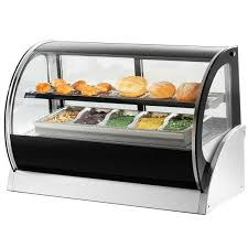heated food display warmer cabinet case 40857 60 curved glass heated countertop display cabinet