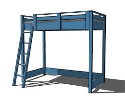 Plans For Loft Beds Free by Build A Loft Bed For Your Dorm Room