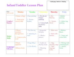 preschool curriculum themes toddler lesson plan template