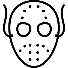 halloween scary mask outline free other icons