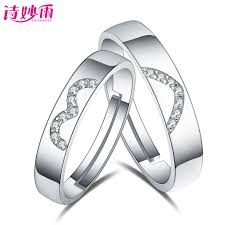 couples rings heart images Shimiaoyu 925 silver couple rings rings for men and women heart jpg