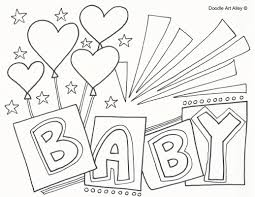 baby doll cute coloring pages printable of baby coloring pages