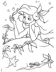 coloring pages disney princess ariel coloring pages ideas