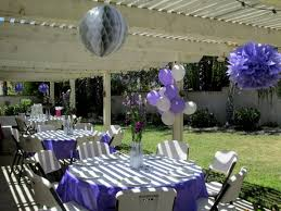 Wedding Shower Decorations by Purple And White Wedding Shower Decorating Of Party