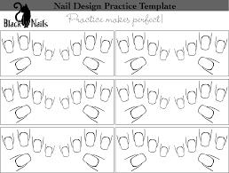 nail art design practice sheet full hand versions black cat nails