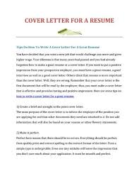 how to write a good resume and cover letter how to make a resume