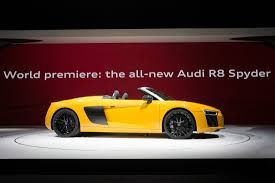 Audi R8 Yellow 2016 - 2016 new york auto show audi r8 spyder v10 pursuitist