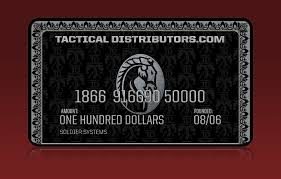 gift card distributors win 100 gift certificate from tactical distributors soldier