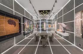 led bureau bureau betak builds brutalist led lit booth for galerie gmurzynska