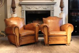 Antique Leather Sofas Fantastic Pair Of 1950 U0027s French Leather Club Chairs Leather
