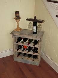 hand made pallet wood 12 bottle wine rack floor or counter top