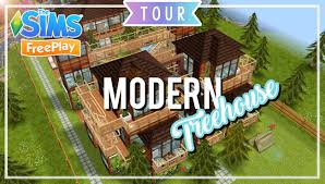 House Design Games Online Free Play by The Sims Freeplay Modern Treehouse Original Design Youtube