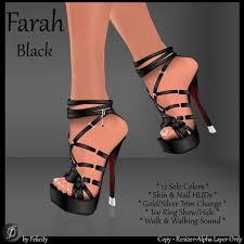 second life marketplace felicity farah stilettos black high
