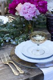 Beautiful Table Settings Romantic Holiday Table Setting French Country Cottage