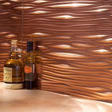 copper kitchen backsplash ideas picture of fasade backsplash waves in polished copper home
