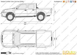 nissan frontier vinyl graphics the blueprints com vector drawing nissan frontier crew cab 4x4