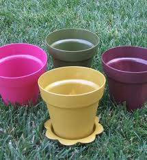 amazon com total 8 ct plastic flower pots 6 inch with
