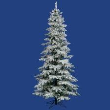 slim christmas tree with led colored lights slim overstock 377 7 5 foot flocked utica fir tree with 400 multi