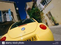 yellow volkswagen beetle royalty free yellow beetle car st tropez cote d azur france stock photo