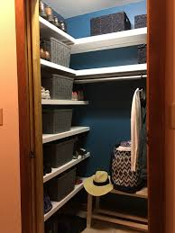 hood creek log cabin coat closet organization makeover 100